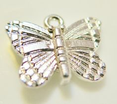 Small Silver Butterfly Charm by SheSellsJewels on Etsy, $1.00