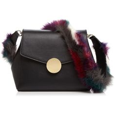 Street Level Faux-Fur Strap Shoulder Bag (1.064.795 IDR) ❤ liked on Polyvore featuring bags, handbags, shoulder bags, shoulder bag purse, street level handbags, shoulder handbags, street level purse and shoulder bag handbag
