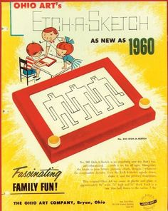 Etch-A-Sketch Vintage Ad. Who would have thought Etch-A-Sketch would become political? My Childhood Memories, Childhood Toys, Great Memories, 1970s Childhood, Etch A Sketch, Vintage Advertisements, Vintage Ads, Vintage Stuff, Vintage Photos