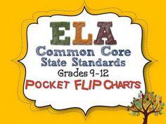 ELA Common Core Standards: Grades 9-12 Pocket Flip Charts