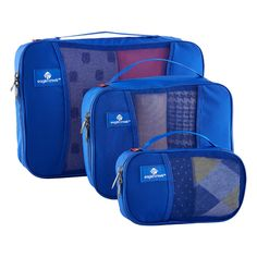 Make use out of every inch of your travel bag with our NEW Eagle Creek™ Blue Pack-It™ Cubes!