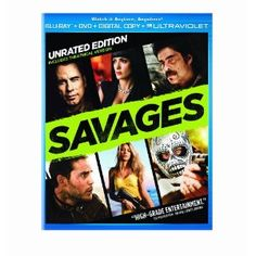 Savages (Two-Disc Combo Pack: Blu-ray + DVD + Digital Copy + UltraViolet) (Universal Studios Home Entertainment)