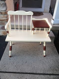 Vintage Telephone Bench/Gossip Bench by Woodrestoration on Etsy