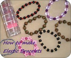 Crafting for Shoeboxes: How to make Elastic Bracelets