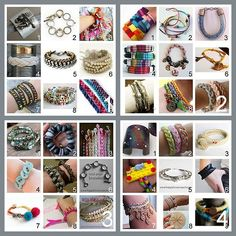 tons of bracelets. some may be duplicates of things already pinned