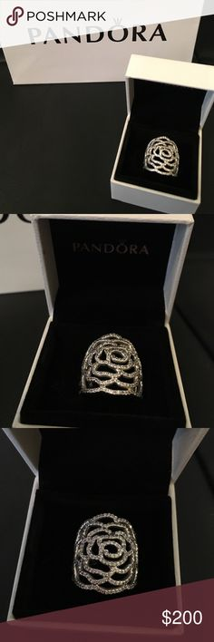 Retired Pandora Rose ring sz 6 This ring is retired. They don't have in stores or online. New never used. Comes with box and bag. Any questions pls ask. Ty Pandora Jewelry Rings