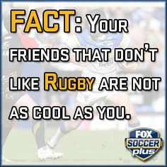 Fact! Rugby Images, Rugby Quotes, Rugby Sport, Best Games, Soccer, Jokes, Facts, Sports, Life