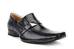 New Men's 88206 Buckle Squared Toe Loafer Dress Shoes