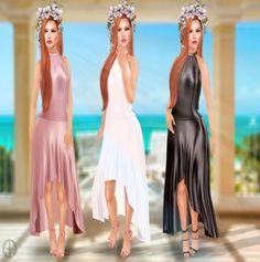 Annie Dress Free SL Group Gift. This free group gift is available on the gifts wall at the HH mainstore. The gift includes three colors of the dress (black
