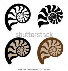 vector shell silhouette by Roman Sotola, via Shutterstock
