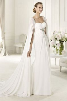 Are You Looking For A Chic Bridal Look Your Wedding Dress Maybe Cape Is What Youre