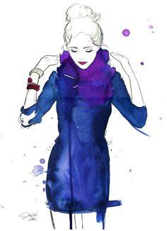 #fashion #illustration #watercolor