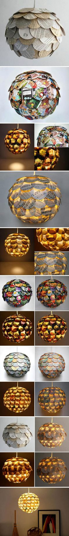 Allison Patrick lamps made of paper #diy #lamp #paper_lamp