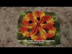 Passo a passo Flor do NORDESTE em Crochê -  a variation of this flower with English explanation is above, tutorial #7