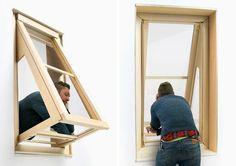 More Sky 2 - Janela extensível | A designer argentina Aldana Ferrer Garcia desenvolveu três modelos de janelas que permitem ao morador uma nova experiência de ver o céu de dentro de casa