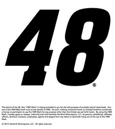 Fan of Jimmie Johnson? Download and use this stencil to help decorate your Hendrick Motorsports-themed pumpkin. Sprint Race, Race Day, Nascar Sprint, Nascar Racing, Auto Racing, Pumpkin Stencil, Sport Inspiration, Festival Decorations, Letters And Numbers