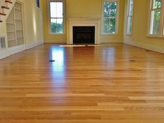 """4"""" White Oak with a water-base finish"""