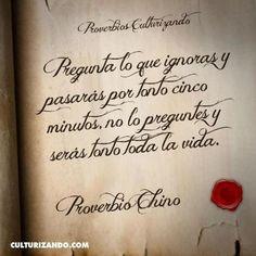 Twitter / Culturizando: #Proverbios #Frases #FraseDelDía ... | Música y frases bonitas | Scoop.it