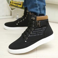 2017 Hot Sale Spring Winter Men Ankle Boots Fashion Men Shoes with Thick Fur Casual Shoes British Style Male High Top Mens Shoes