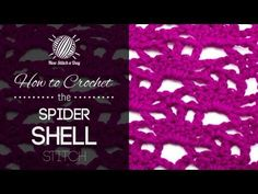 For written instructions and photos please visit: http://newstitchaday.com/how-to-crochet-the-spider-shells-stitch    This video crochet tutorial will help you learn how to crochet the spider shells stitch. This stitch is made using chain stitches and shells to create a lovely open fabric. The spider shells stitch would be great for stoles, afghan...