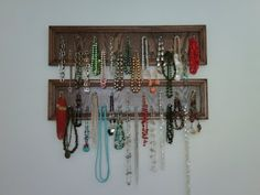 Running from the Law: Weekend Project - Necklace Holder (or Reason #781 Why I Love Etsy)