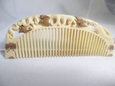 In Kotsuki] antique pine this ivory comb of gold lacquer wave of plover watermark (ornamental hairpin) _ image 1