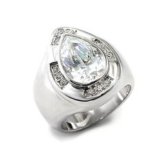 Stylish Pear Silver Ring CZ - Fine Jewelry Gifts from Encore DT, VORI07-04143