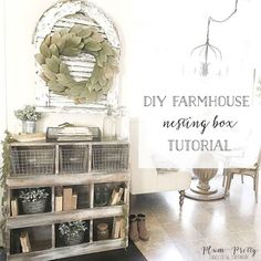 Who said you had to have chickens to have nesting boxes?! Well in our little builder basic farmhouse we built these vintage inspired nesting boxes to serve as a functional pieces of storage for our everyday piles of stuff. So as promised today I'm sharing with y'all the full DIY nesting box tutorial.