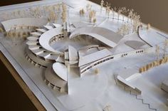 Junior High School Saint-Maurice de Beynost │ Competition in 2000 :: Pictures and Description of the Project Organic Architecture, Architecture Student, Concept Architecture, Landscape Architecture, Interior Architecture, Temporary Architecture, Architecture Organique, 3d Modelle, Arch Model