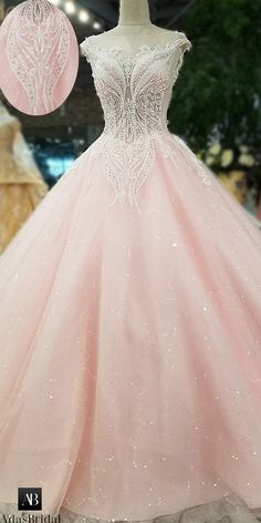 NEW! Romantic Tulle Bateau Neckline A-line Wedding Dress With Lace Appliques & Beadings