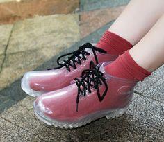 Transparent unisex gum boots