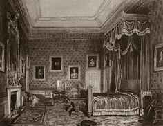 Queen Victoria's bedroom.It is recorded that Queen Victoria and Prince Albert shared a bedroom at Windsor Castle until his last illness where he died in The Blue Room. Queen Victoria's Bedroom, Sitting Room and Boudoir (Dressing Room) were all located within The King's [Victoria] Tower in the South East corner of the castle. - Windsor Castle