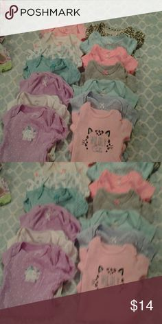 14 Cartes oneses Baby girl Oneses Carter's One Pieces Bodysuits