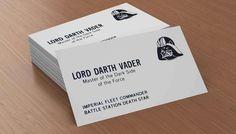 Business cards from a galaxy far, far away | #nerd #design #inspiration