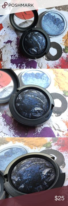 "Mac Mineralize ""Blue Flame"" Eyeshadow I believe this shade is discontinued. Perfect for beautiful  smoky Eye. Barely used! Probably once or twice! Makeup Eyeshadow"