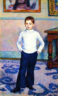 'Portrait of Jean Marie Gevaert as a Boy' by Theo van Rysselberghe (Belgian 1862-1926)