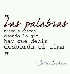 Las palabras de Julio Cortazar