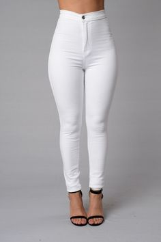 High Waist Skinny Jeans (White) - $29.99 #FashionNova #Jeans #White
