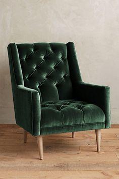 Velvet Booker Armchair #anthropologie