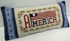 American Flag Patriotic Cross Stitched Mini by luvinstitchin4u, $24.99