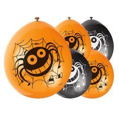 Balloner er en nem og hurtig måde at pynte op på til Halloweenfesten! Og så kan børnene også lege med dem! Disse balloner kan fyldes med enten luft eller helium: Halloween Skør Edderkop Latex Ballon - Pakke med 10, fundet hos #MinTemaFest.dk Det største udvalg af festartikler online i Danmark