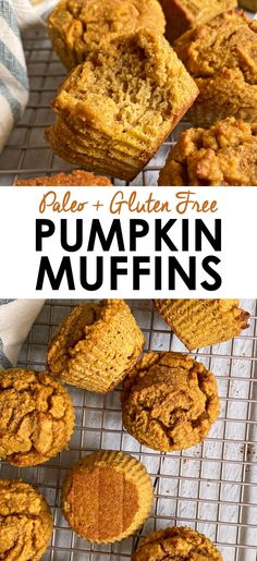 These healthy paleo pumpkin muffins are made with almond flour, pumpkin puree and sweetened with monk fruit (or coconut sugar). These are the perfect low carb pumpkin muffins - great for snacking, breakfast or eaten for a healthy dessert. #pumpkinmuffins #lowcarbmuffins #paleomuffins Recipe Using Pumpkin, Paleo Pumpkin Recipes, Paleo Pumpkin Muffins, Almond Flour Muffins, Baking With Almond Flour, Paleo Recipes Easy, Gluten Free Pumpkin, Baking Flour, Pumpkin Puree