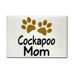 Cute Cockapoo Mom Rectangle Magnet