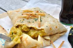 A West Indian style curry Trini Roti is a very typical lunch in this region.