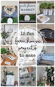 It's fun to look back and see what you've been busy creating and making! So I'm sharing 12 Farmhouse Project Favourites from 2018 that you can make too! Rustic Farmhouse Decor, Farmhouse Style Decorating, Rustic Decor, Farmhouse Ideas, Modern Farmhouse, Farmhouse Garden, Country Farmhouse, Country Living, Diy Crafts To Sell