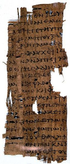 Papyrus manuscript of the Epistle of James, from an early copy of a New Testament in Greek, it only contains Chapter 2:19-3:9. Dates from around 250 AD and is at Harvey S. Firestone Memorial Library in Princeton New Jersey.