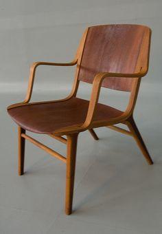 Peter Hvidt Orla Molgaard Nielsen Danish Modern Ax Chair via Etsy
