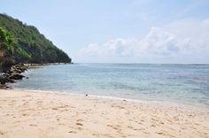 La plage de Green Bowl au Sud de Bali