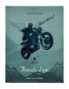 FRENCH LINE - ELOGE DE LA VITESSE - praise the speed - a deluxeposter by lorenzo…