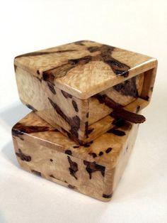 Maple Burl Wedding Ring Boxes